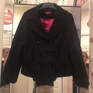 Boxy double breasted pea coat
